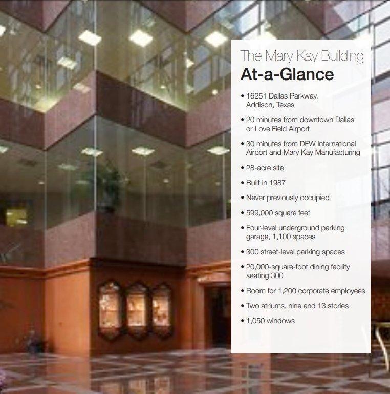 Một số đặc điểm nổi bật của tòa nhà trụ sở chính Mary Kay