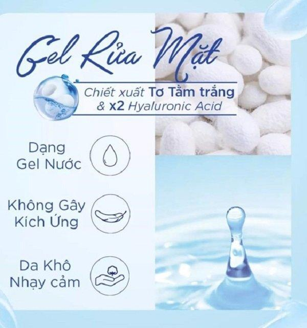 Bảng thành phần lành tính và chứa nhiều dưỡng ẩm mang đến làn da ẩm mịn (nguồn: Internet)