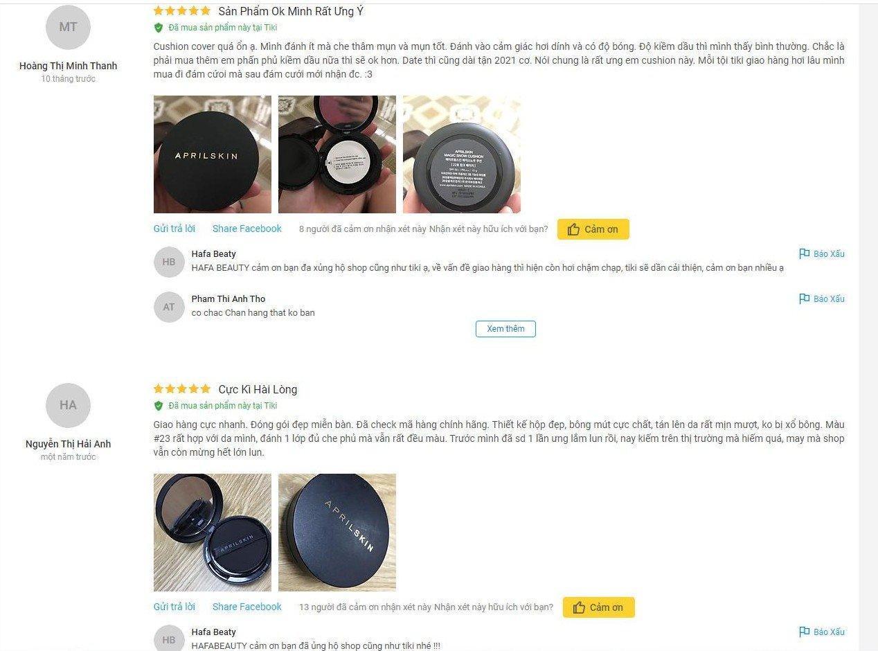 Nhận xét từ một khách hàng sử dụng sản phẩm trên Fime.vn (Ảnh: BlogAnChoi)
