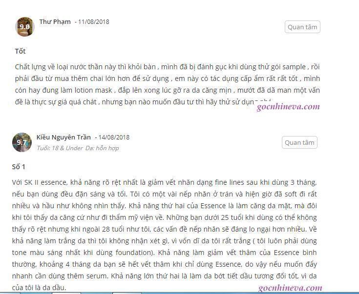 Những lời khen có cánh của khách hàng trên trang Gocnhineva (ảnh: BlogAnChoi).