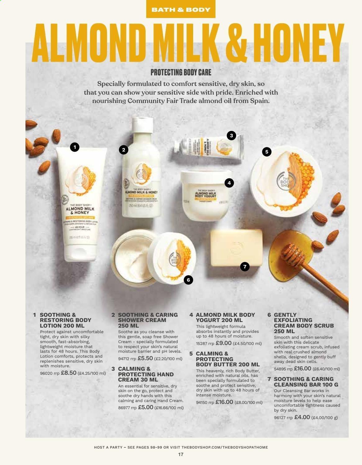 Các loại dưỡng da cò mùi hương Almond Milk and Honey (nguồn: Internet)