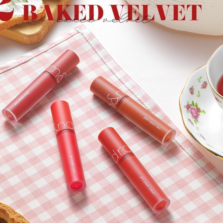 Romand Baked Velvet Collection là bộ sưu tập các màu son thiên về tone đỏ. (nguồn: Internet)