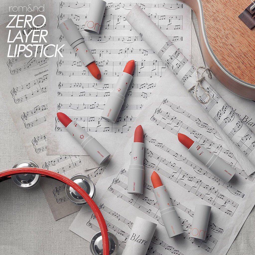 Romand Zero Layer Lipstick có chất son lỳ mướt mịn, siêu nhẹ môi. (nguồn: Internet)