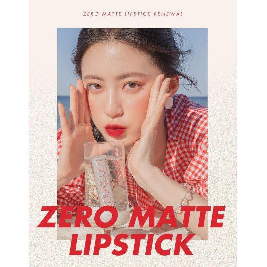 Romand cho ra mắt phiên bản renew của dòng son Romand Zero Gram Matte Lipstick. (nguồn: Internet)