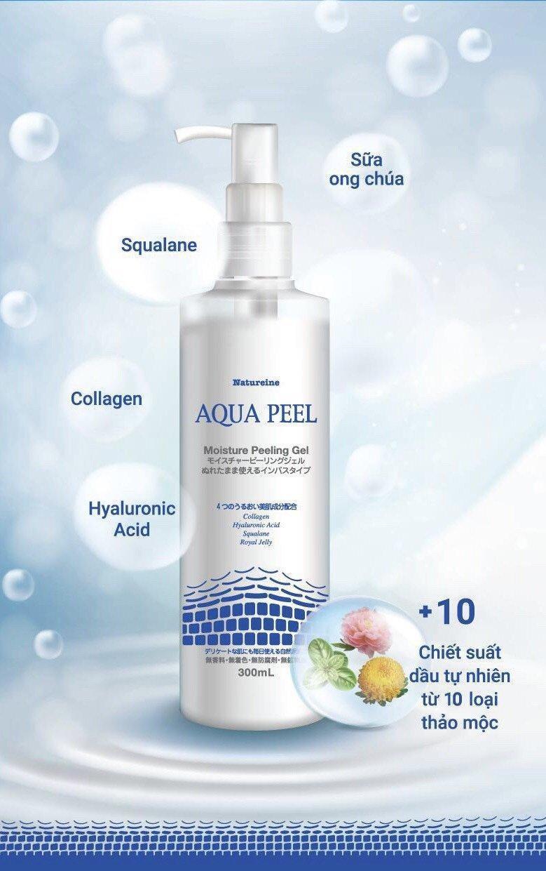 """Bảng thành phần """"sáng giá"""" của Aqua Peel. (Ảnh: Internet)"""