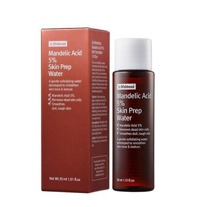 By Wishtrend Mandelic Acid 5% Skin Prep Water có thiết kế khá đơn giản với màu nâu chủ đạo (Nguồn: Internet)