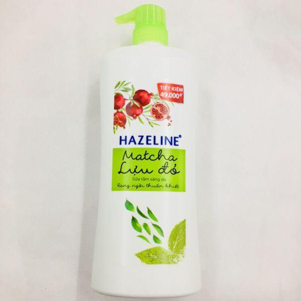 Hazeline Matcha lựu đỏ giúp da thêm sáng mịn (Nguồn: Internet)