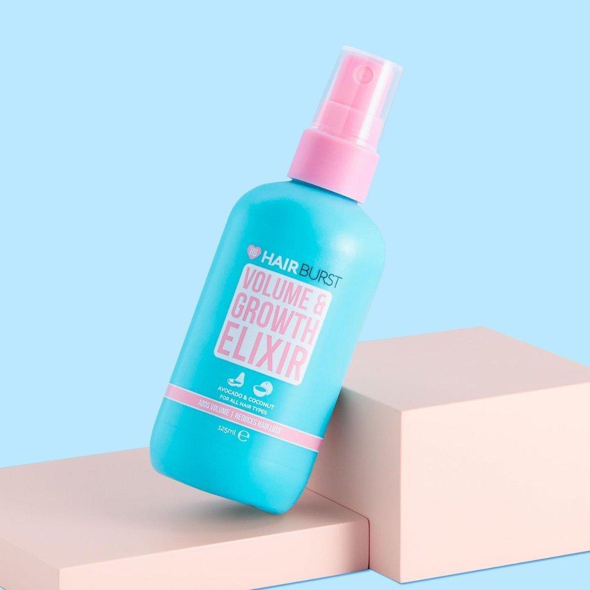 Xịt dưỡng tóc Hairburst Volume & Growth Elixir sẽ giúp mái tóc bạn thêm bồng bềnh (Nguồn: Internet)