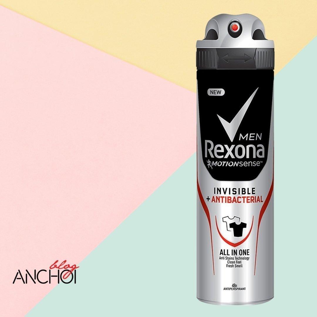 Xịt khử mùi Rexona Invisible Antibacterial loại bỏ mùi hương đến 48 giờ ( Nguồn: BlogAnChoi)