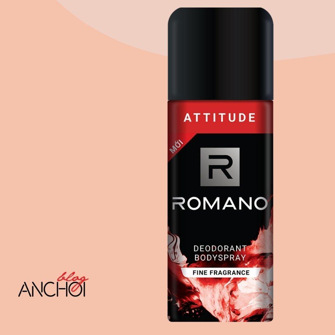 Xịt khử mùi Romano Attitude mang đến mùi hương nam tính quyến rũ ( Nguồn: BlogAnChoi)